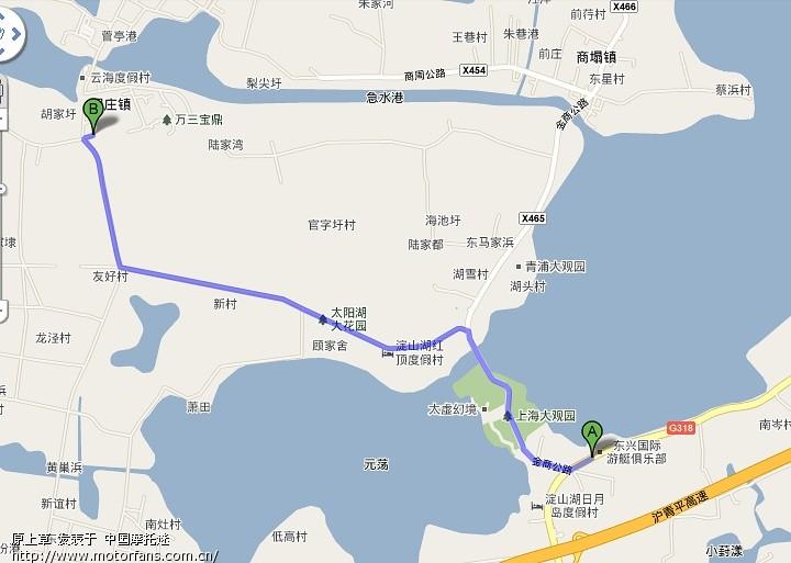 周庄古镇之南湖村进镇路线(内附地图和卫星图)