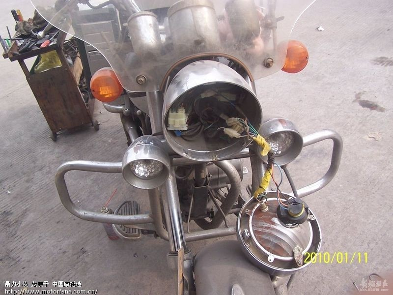 摩托车疝气灯安装图