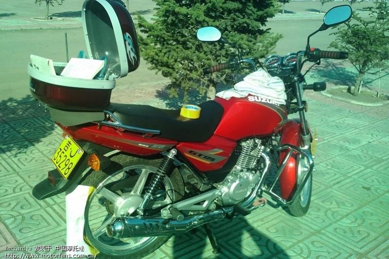 轻骑铃木gt125轮毂变色记(新手第一次倒弄摩托车)望!