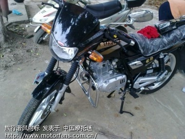 今天入手hj125k-2 - 豪爵铃木-骑式车讨论专区 - 摩托