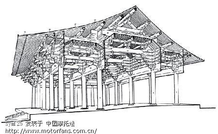 佛光寺木结构剖面图