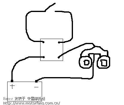 摩托车喇叭装继电器问题