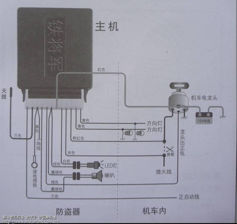 铁将军防盗器接线图; 标题