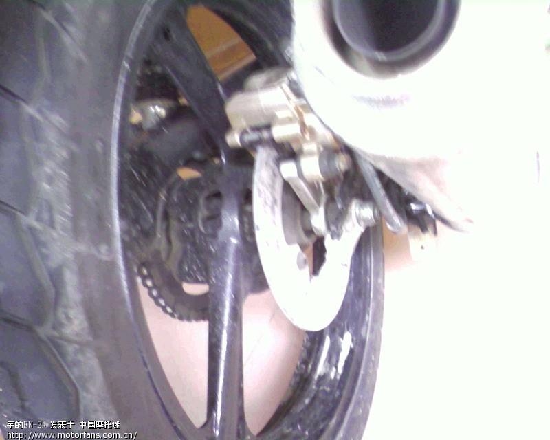 EN3A怎么改装后碟刹 - 维修改装 - 摩托车论坛