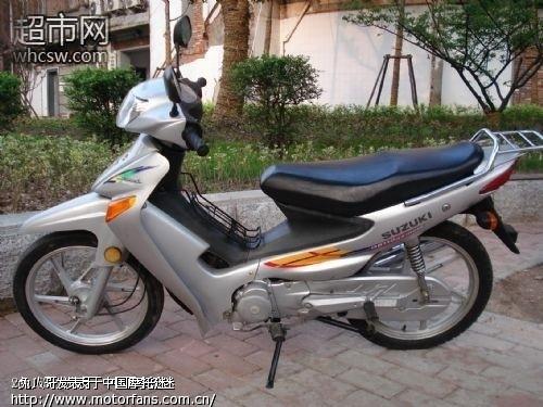 出售银灰色铃木赛驰弯梁110摩托车