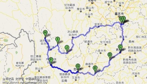 云贵高速公路地图