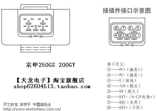 zongshen 200gy 2 cdi diagrams and compatibility riders forums the connector item taobao com item htm id 36436062840 these 8 pin are very common on late year suzuki