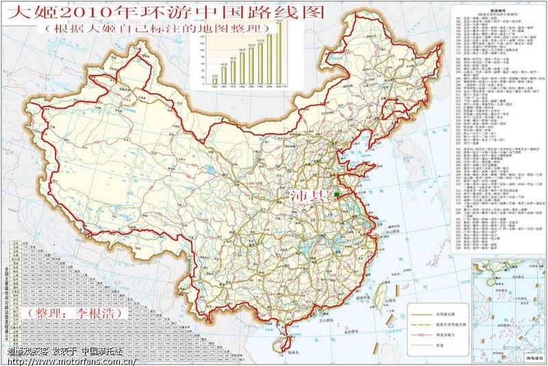 理 大姬 环游中国 路线图