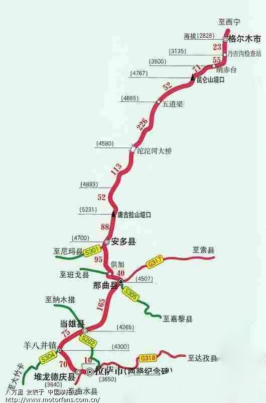 川藏线详细卫星地图