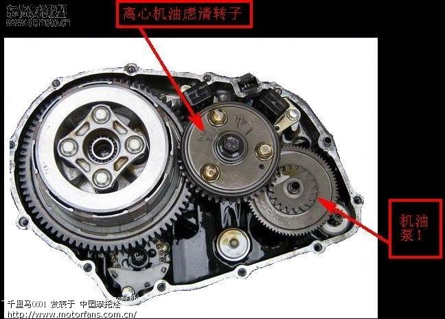 建设雅马哈弯梁发动机结构图 - 国产摩托 - 摩托
