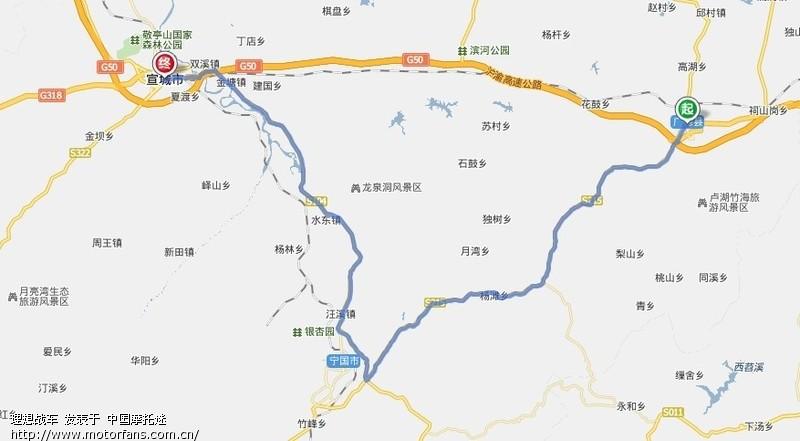 广德独山镇地图