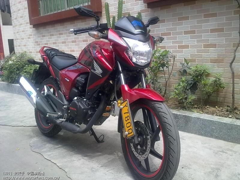 摩托车论坛 五羊本田-骑式车讨论专区 五羊本田-幻影150 03 红色