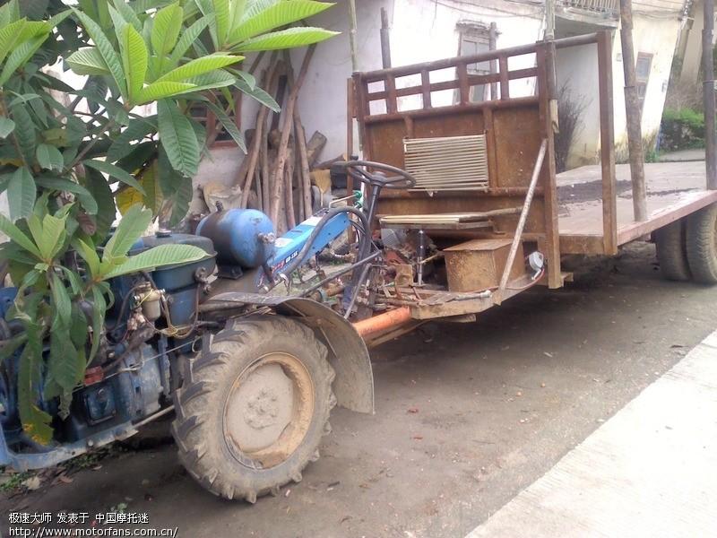 韶关小坑巧遇改装拖拉机图片