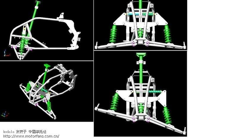 电动车外部结构图解