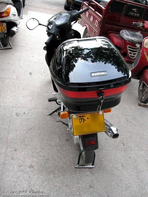 轻骑铃木qs110超级赛驰狂多图(新装后备箱)新国三
