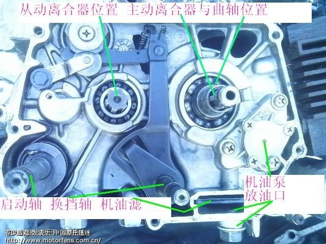 6   看看图解,楼主介绍的是单离合器发动机.
