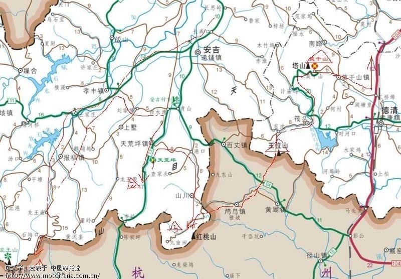 安吉山川手绘地图