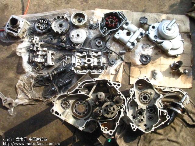 国产dohc 4v油冷铃木刀125发动机大修图片 - 维修改装