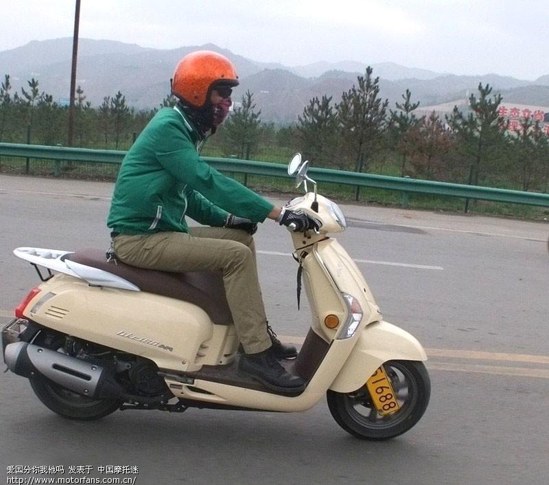 标题: 今在五道口看见一个女生骑光阳like180,车子很漂亮