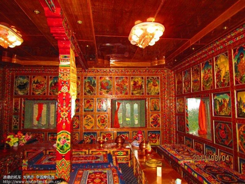 1,晚上住在一家藏族家开的旅馆,民族风格装修非常漂亮,2,女