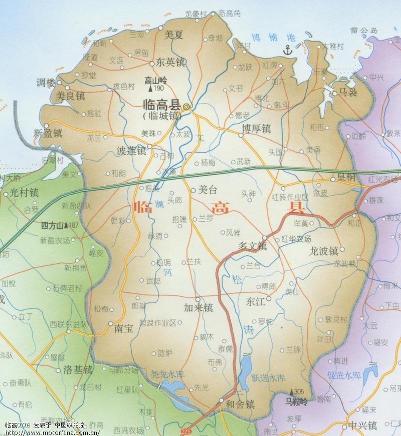 距海南省省会海口市83公临高县地图  本数据来源于百度地图,最终结果