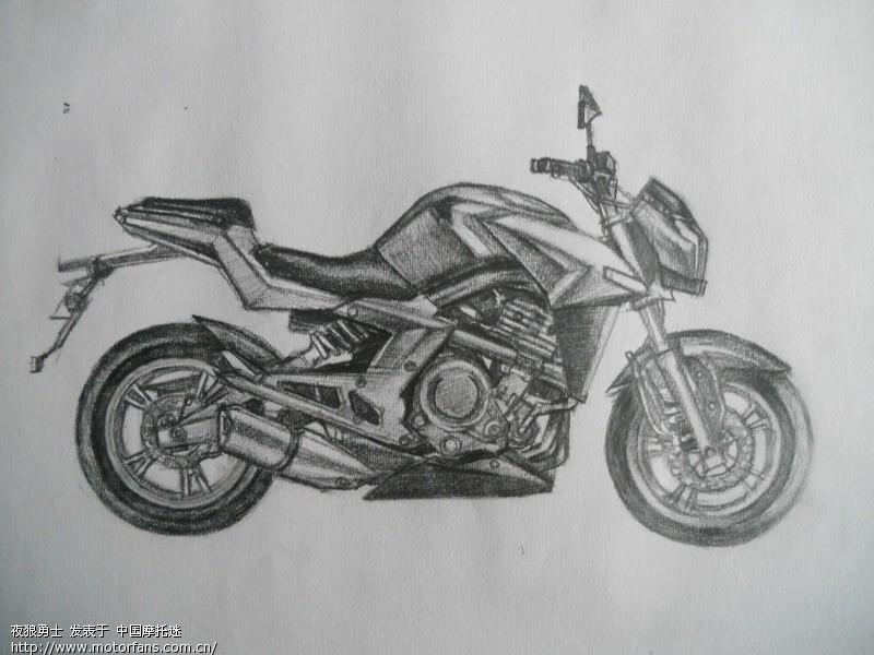 摩托车怎么画_摩托车简笔画步骤图
