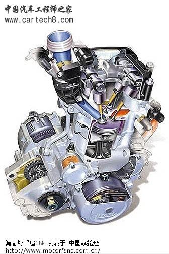 摩托发动机结构图