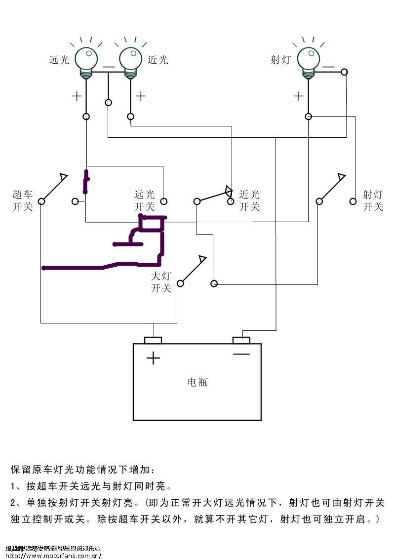摩托车论坛 维修改装 03 大灯接线求助(接线图已上在1楼,大家看看