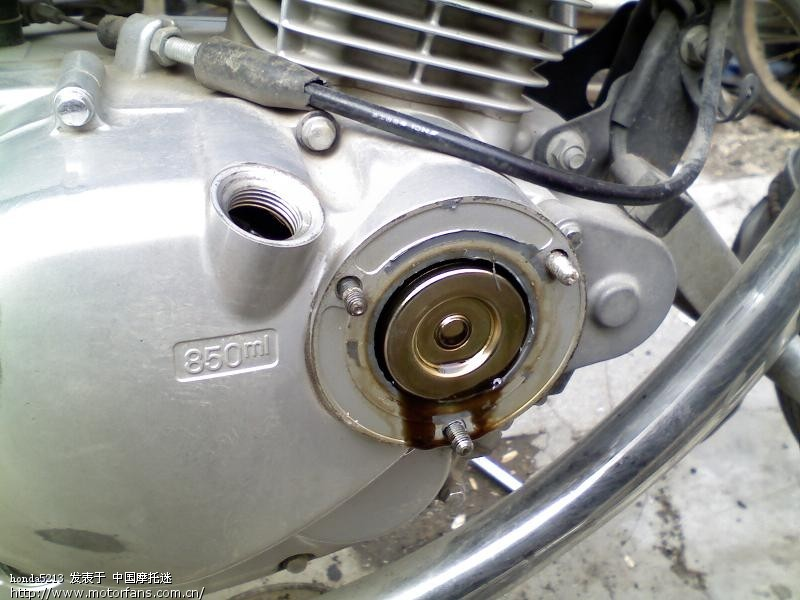 gn125自己动手换机油滤芯