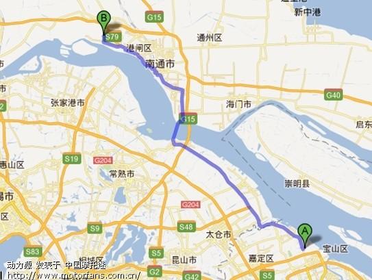 上海宝山--南通市通州区五接镇