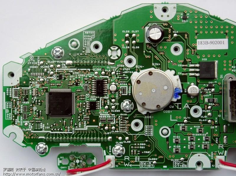 幻影或战神仪表电路板图及更改里程数的方法