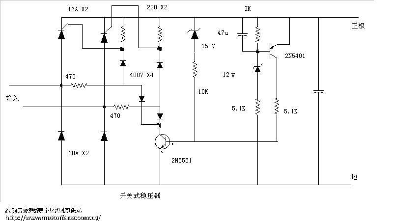 2n5551的功用,是将2n5401产生的电压误差信号放大,并变化到