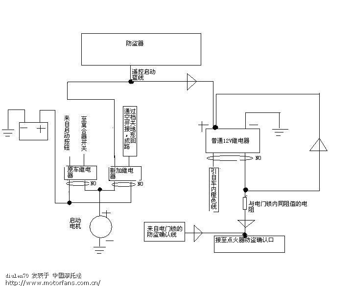 新朗逸防盗器接线图; 摩托车