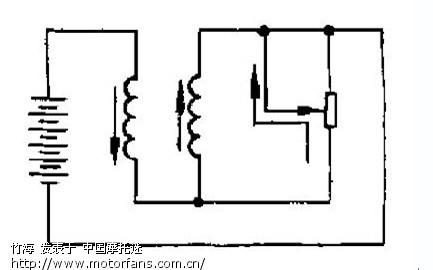 电磁式油量表及传感器的结构与工作原理电磁式油量表与可变电阻式