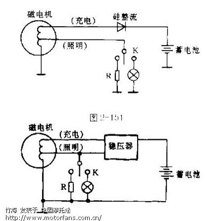 型摩托车照明线路中等效负载电阻的作用与分析