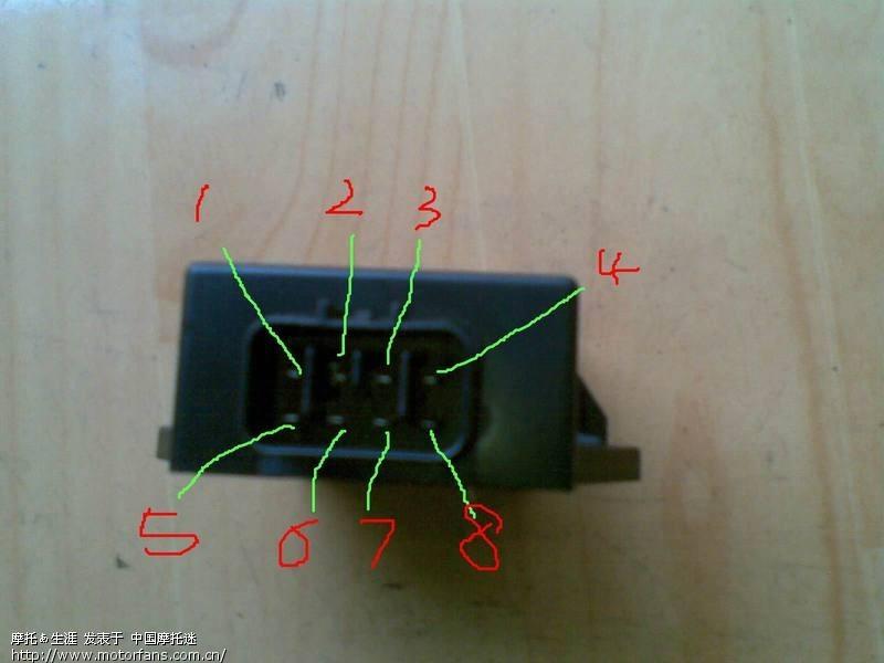 铃木 8脚直流点火器和高压包的接线法希望能详细点 只看楼主 上一主图片