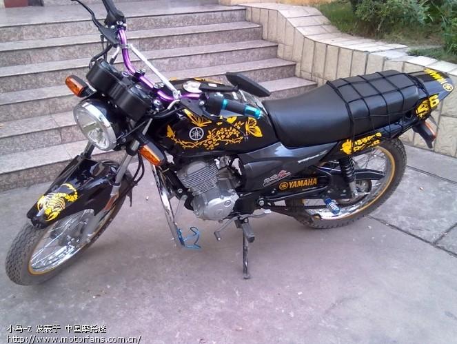 莲花雅马哈YBZ改装直排-雅马哈-摩托车国三剪纸团花黑白图纸图片
