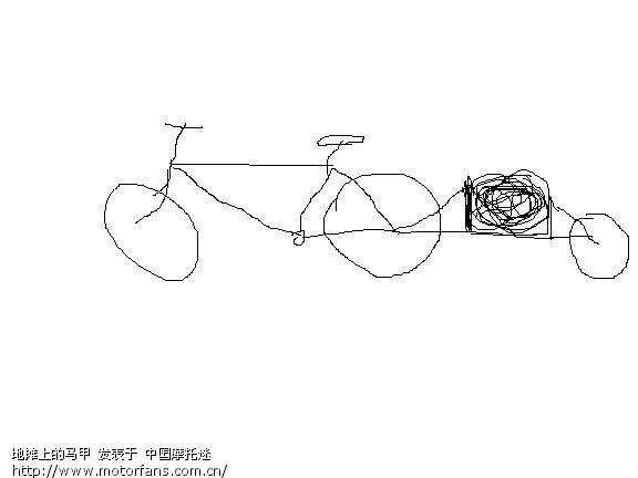 自行车后面加装一个轮子