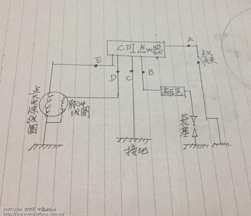 摩托车电容方电式点火系统的检测方法(简称cdi点火)