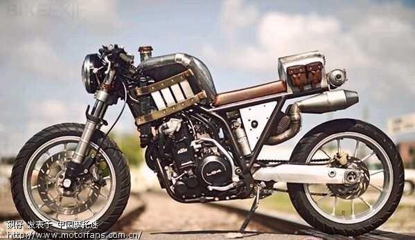 lc4手工制作复古摩托车