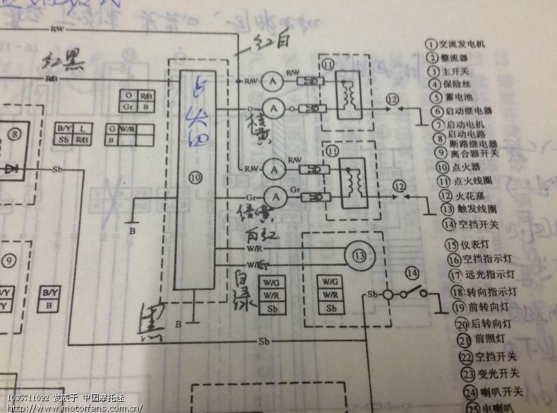 七界无敌摩友需要的(xv250点火器的接线图)请注意查看!