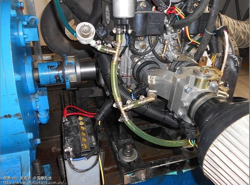 航模发动机rotax 582装电喷系统测试