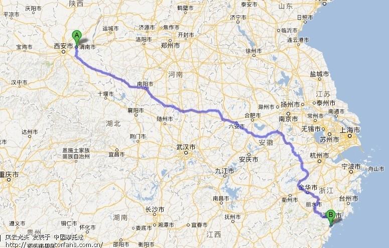 看了一下谷歌地图以312国道为主