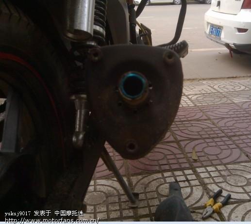 标题 钱江龙19A原装排气管改装 只看楼主 上一主题 下一主题图片