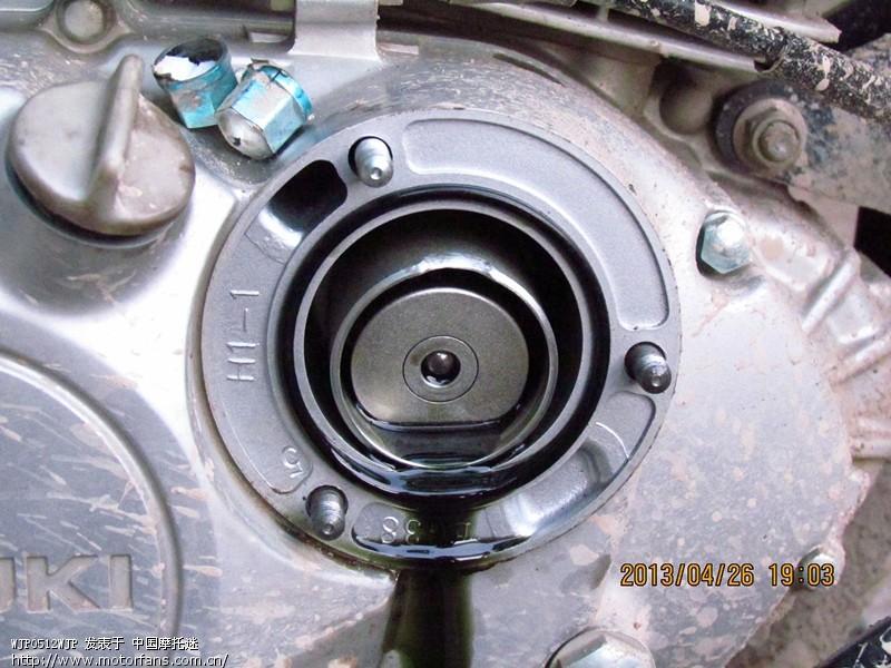 自己加装油冷悦酷GZ150自己动手换机油 动手