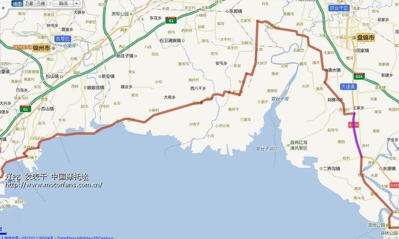 全程高速沟帮子到葫芦岛地图