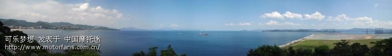 到海边吹海风,发呆(看大海;蓝天;白云)    最后上一张全景图,海纳百川
