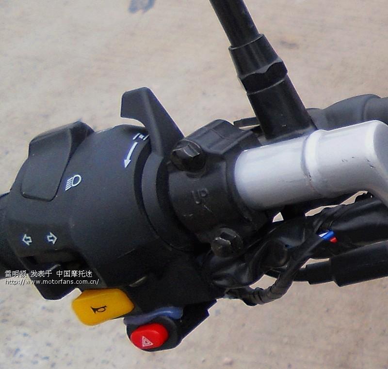 俺的摩托车装有双向的断油报警器,也就是说在用钥匙启动电源以后