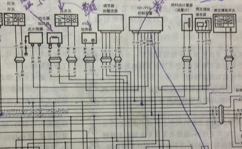 这是超人的电路图,你仔细看看这张图,线路o直流电源 进入加浓阀,b从