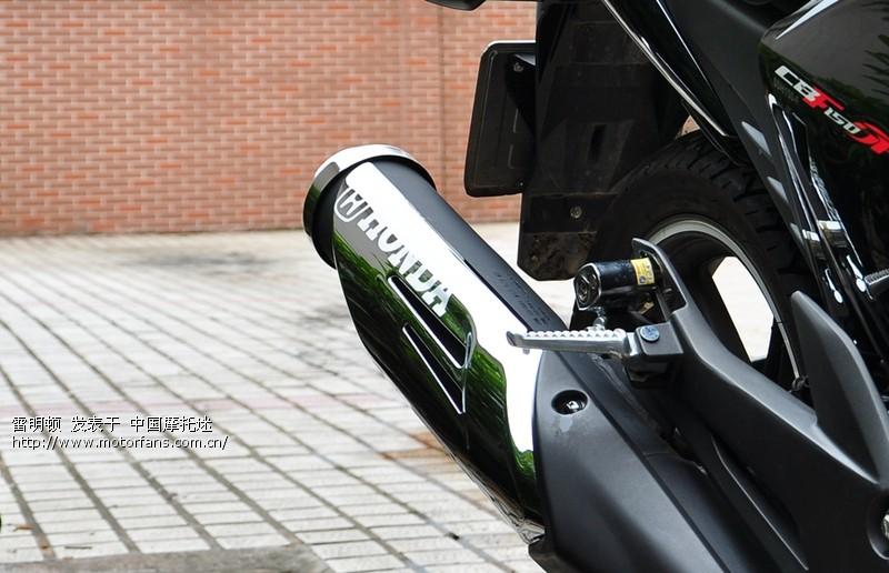 本田摩托改装排气管 摩托排气管改装 摩托排气管改装跑车音高清图片
